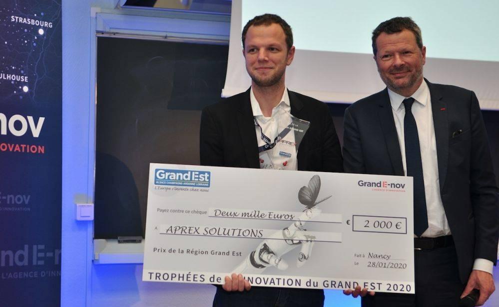 APREX SOLUTIONS, lauréat des Trophées de l'Innovation du Grand Est