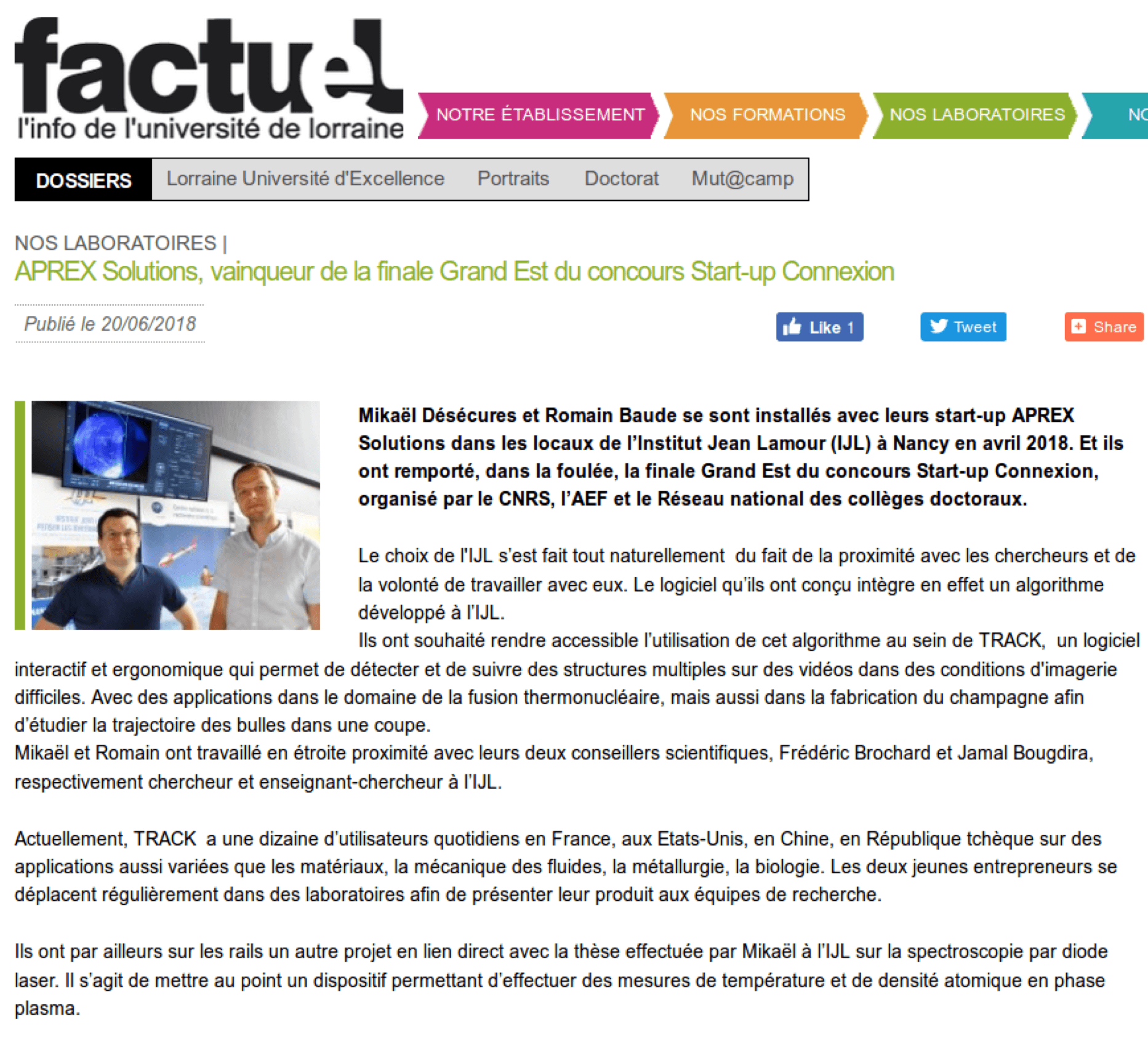 FACTUEL – Université de Lorraine
