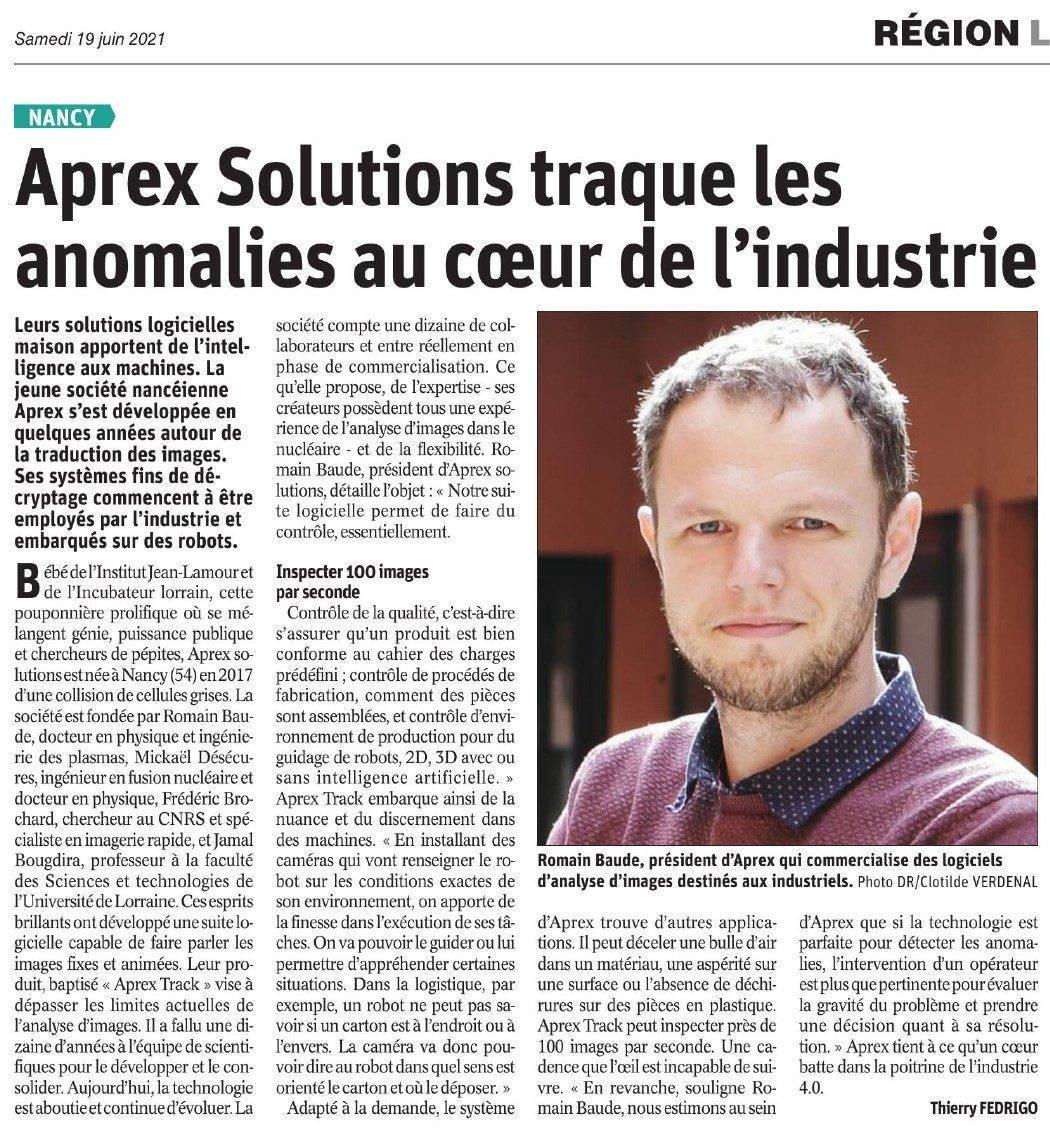 APREX Solutions traque les anomalies au cœur de l'industrie