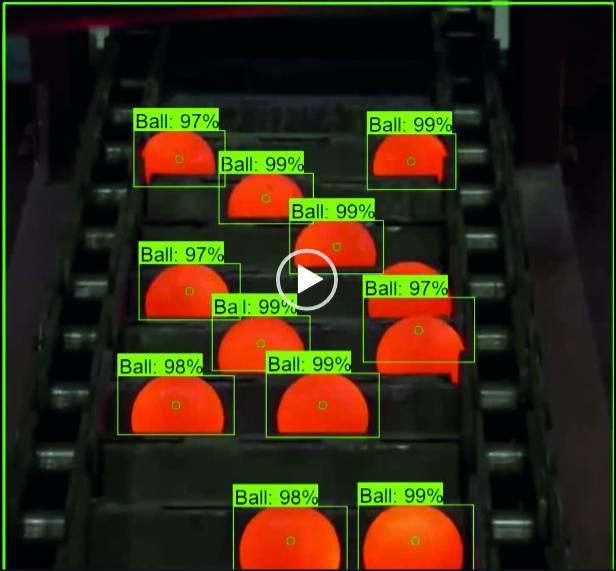 Contrôle automatisé de roulements à billes en sortie de fonderie